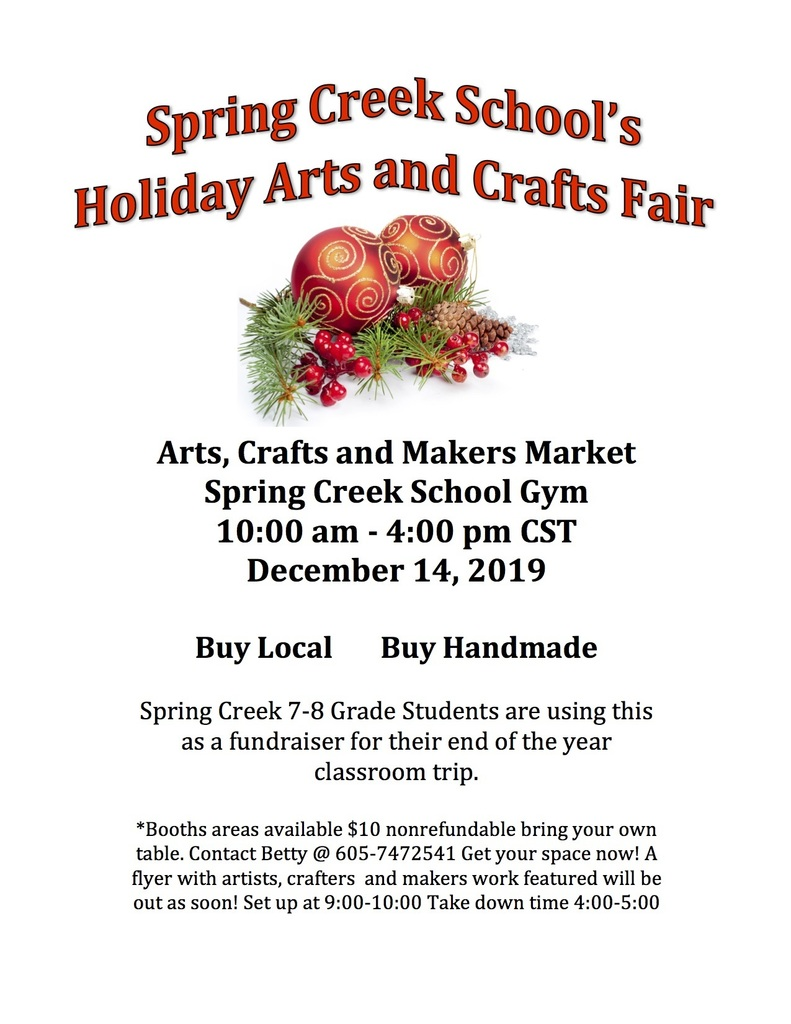 Spring Creek School Arts and Crafts Fair